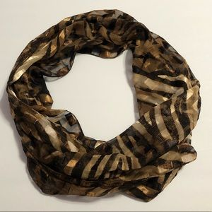 Gold/Brown/Black Patterned Scarf